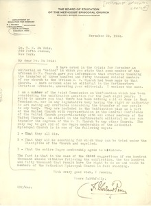 Thumbnail of Letter from Methodist Episcopal Church to W. E. B. Du Bois