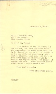 Thumbnail of Letter from W. E. B. Du Bois to Methodist Episcopal Church