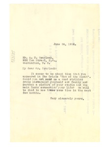 Thumbnail of Letter from W. E. B. Du Bois to A. N. Scurlock