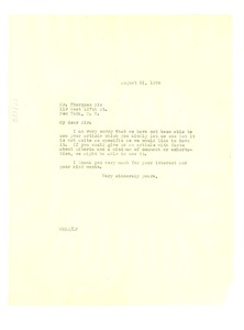 Thumbnail of Letter from W. E. B. Du Bois to Sie Thorgues