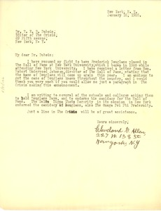 Thumbnail of Letter from Cleveland G. Allen to W. E. B. Du Bois