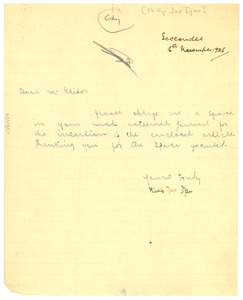 Thumbnail of Letter from Phillip Jao Djan to the Crisis