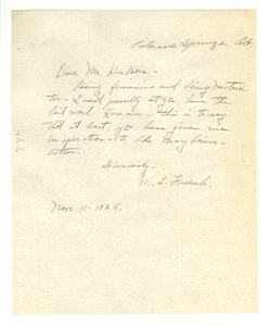 Thumbnail of Letter from Mary Louise French to W. E. B. Du Bois