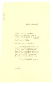 Thumbnail of Letter from W. E. B. Du Bois to Jane Edna Hunter
