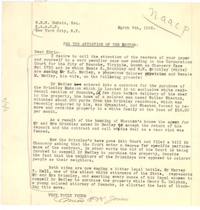 Thumbnail of Letter from E. K. Jones to Editor of the Crisis