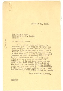 Thumbnail of Letter from W. E. B. Du Bois to Norman Leys