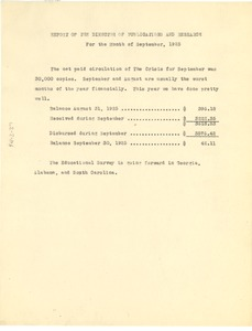 Thumbnail of Report of the director of publications and research for the month of September 1925