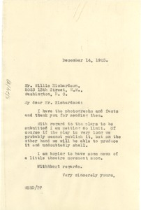 Thumbnail of Letter from W. E. B. Du Bois to Willis Richardson