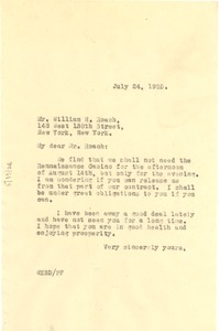 Thumbnail of Letter from W. E. B. Du Bois to William H. Roach