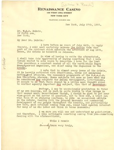 Thumbnail of Letter from William H. Roach to W. E. B. Du Bois