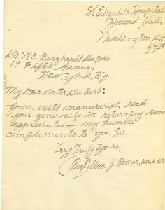 Thumbnail of Letter from William J. Romes to W. E. B. Du Bois