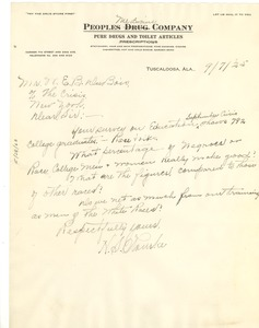 Thumbnail of Letter from H. S. Rourke to W. E. B. Du Bois