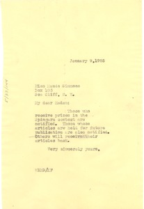 Thumbnail of Letter from W. E. B. Du Bois to Maude Simmons