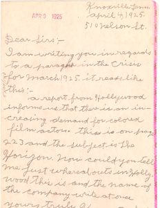 Letter from Kenneth Smith to Crisis
