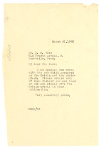 Thumbnail of Letter from W. E. B. Du Bois to Sunday School Publishing Board