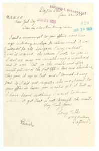 Thumbnail of Letter from Leroy Tubbs to Editor of the Crisis