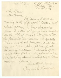 Thumbnail of Letter from Benjamin H. Williams to Crisis
