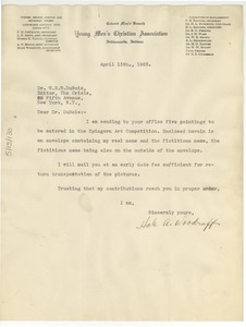 Thumbnail of Letter from Hale Woodruff to W. E. B. Du Bois