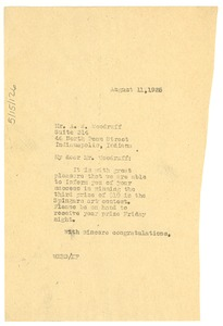 Thumbnail of Letter from W. E. B. Du Bois to Hale Woodruff