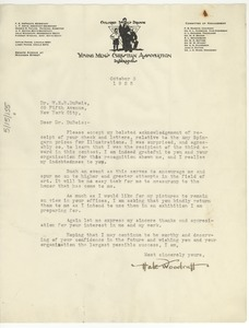 Thumbnail of Letter from Hale A. Woodruff to W. E. B. Du Bois