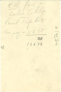 Thumbnail of Note on travel expenses