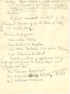 Musical academy of Villa d'Este [draft]