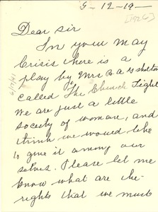 Thumbnail of Letter from Mrs. R. H. Armstrong to W. E. B. Du Bois