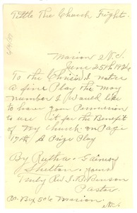 Thumbnail of Letter from I. B. Benson to Crisis