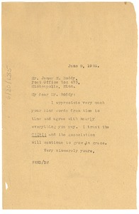Thumbnail of Letter from W. E. B. Du Bois to James M. Boddy