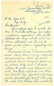 Thumbnail of Letter from E. G. Braxton to NAACP