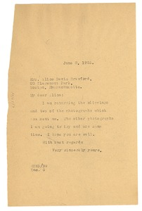 Thumbnail of Letter from W. E. B. Du Bois to Alice Davis Crawford