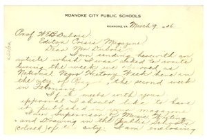 Thumbnail of Letter from Fannie Davis Dennis to W. E. B. Du Bois