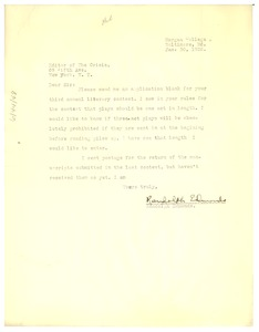 Thumbnail of Letter from Randolph Edmonds to the editor of The Crisis