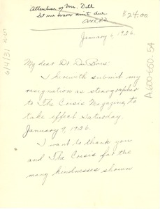 Thumbnail of Letter from Pocahontas Foster to W. E. B. Du Bois