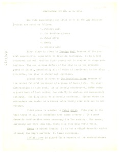 Thumbnail of Memorandum from Montgomery Gregory to A. G. Dill