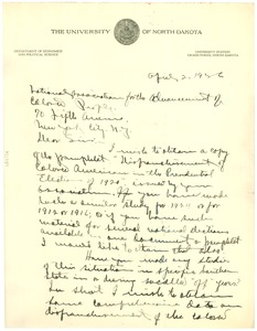 Thumbnail of Letter from S. A. Hartz to the NAACP