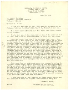 Thumbnail of Letter from Edward Clifford to Dr. Robert R. Moton