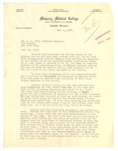 Thumbnail of Letter from John J.Mullowney to A. G. Dill