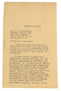 Thumbnail of Letter from W. E. B. Du Bois to R. H. Rutherford
