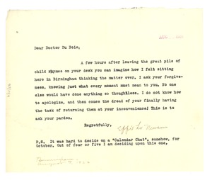 Thumbnail of Letter from Effie Lee Newsome to W. E. B. Du Bois
