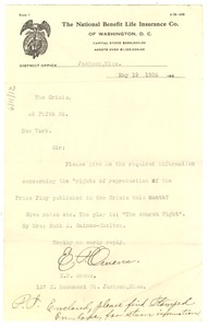 Thumbnail of Letter from E. P. Owens to Editor of the Crisis