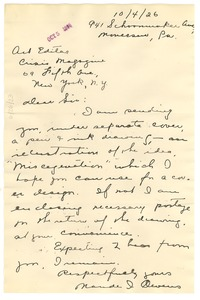 Thumbnail of Letter from Maude I. Owens to Editor of the Crisis