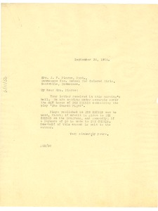Thumbnail of Letter from Crisis to Mrs. J. F. Pierce