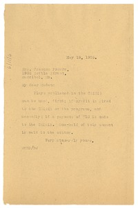 Thumbnail of Letter from W. E. B. Du Bois to Frances Powers