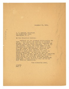 Thumbnail of Letter from W. E. B. Du Bois to Prudential Bank