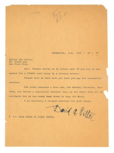 Thumbnail of Letter from David A. Putter to Editor of the Crisis