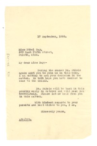 Thumbnail of Letter from Crisis to Ethel Ray