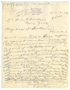 Thumbnail of Letter from S. D. Redmond to W. E. B. Du Bois