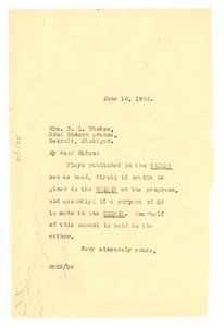 Thumbnail of Letter from W. E. B. Du Bois to Mrs. C. L. Rhodes