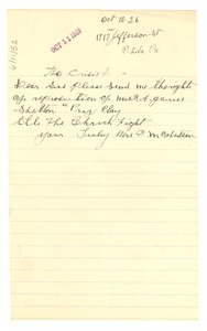 Thumbnail of Letter from Mrs. C. M. Robertson to Crisis